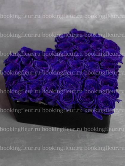 """Букет-сердце из синих роз """"Мечта"""""""