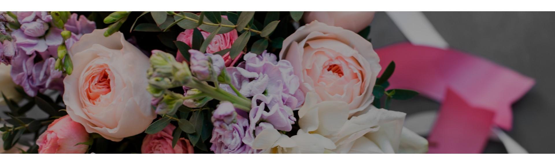 Букеты с пионовидными розами