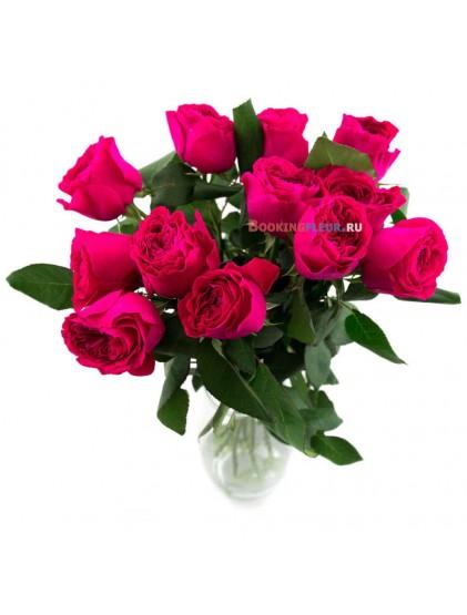 11 пионовидных роз Дарси